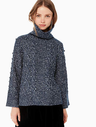 Kate Spade Chunky Cable Sweater, Adriatic Blue - Size L