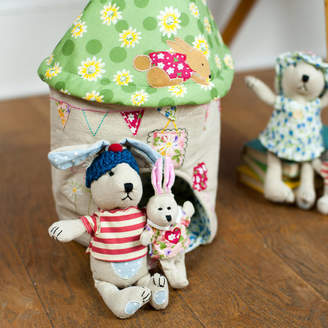 The Little Blue Owl Fabric Rabbit House And Family