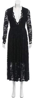 Ganni Ayame Lace Embroidered Maxi Dress