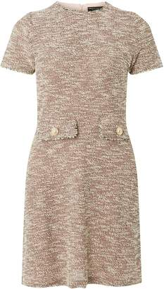 Dorothy Perkins Womens Pink Boucle Shift Dress