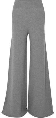 Stella McCartney Ribbed Wool Wide-leg Pants - Gray