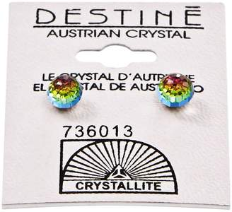 Crystallite Destine Vitrail Medium 6mm Faceted Ball Earring