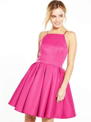 Chi Chi London PETITE Fit and Flare Dress - Fuchsia