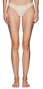 La Perla WOMEN'S SPARKLES LACE THONG - WHITE SIZE 3