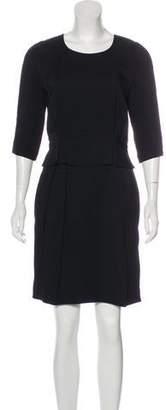 Stella McCartney Three-Quarter Sleeve Knee-Length Dress