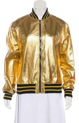 62f8eb0a1 Metallic Gold Bomber Jacket - ShopStyle