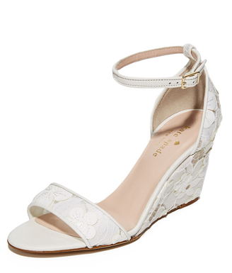 Kate Spade New York Roosevelt Lace Wedges $328 thestylecure.com