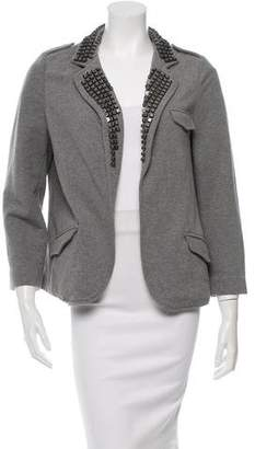 Gryphon Embellished Open Front Blazer w/ Tags