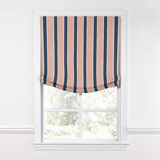 Loom Decor Relaxed Roman Shade Chantilly Stripe - Midnight