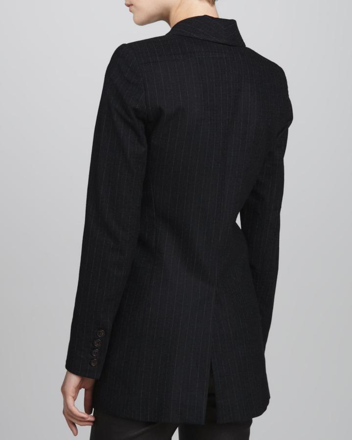 Smythe Long Pinstripe Blazer