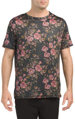 Floral Sublimation Printed Tee