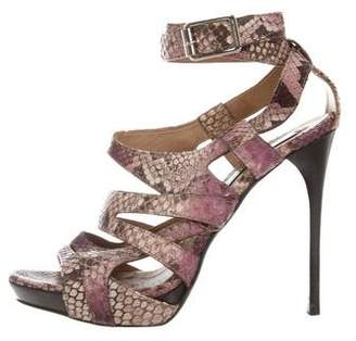 Burberry Snakeskin Caged Sandals