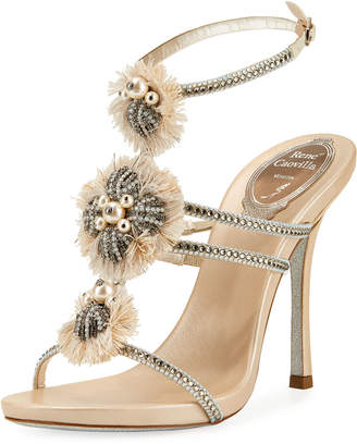 Rene Caovilla Embellished Triple-Strap Sandals