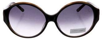 Judith Leiber Floral Round Sunglasses