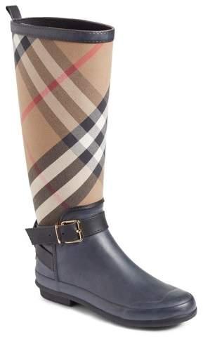 Women's Burberry Check Rain Boot