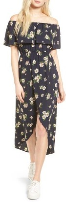 Women's Soprano Floral Print Off The Shoulder Dress $49 thestylecure.com