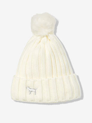 PINK Sherpa Lined Beanie