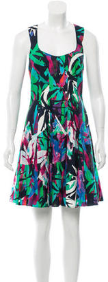 Nicole Miller Printed A-Line Dress w/ Tags $85 thestylecure.com