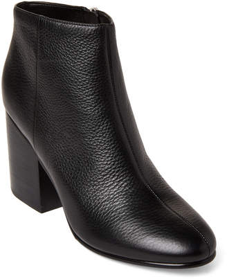 Marc Fisher Black Quella Leather Ankle Booties