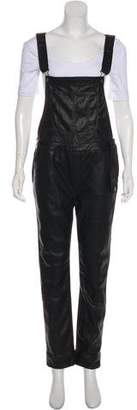 Black Orchid Vegan Leather Overalls w/ Tags