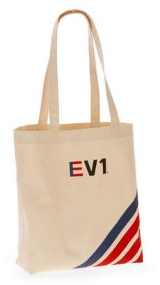 737f57002 Ev1 From Ellen Degeneres EV1 Striped Graphic Canvas Market Tote