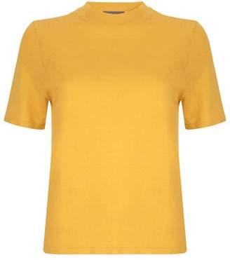 Mint Velvet Yellow Metallic Fleck Tee