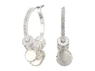 Lauren Ralph Lauren Micropave Charm Hoop Earrings