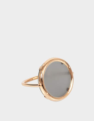 ginette_ny Ever Moonstone 18-karat rose gold Disc ring