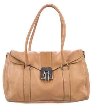 Prada Leather Turn-Lock Bag
