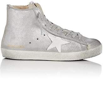 Golden Goose Women's Francy Metallic Leather & Shearling Sneakers - Silver