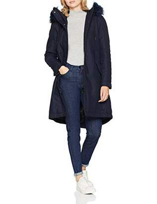 G Star Women's Rovic Bf Padded Faux Fur Parka Wmn (Sartho Blue 6067), X-Large