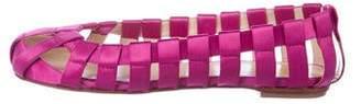 Dolce & Gabbana Satin Cutout Flats