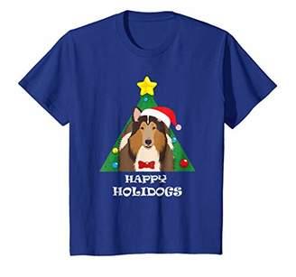 Funny Cute Rough Collie Christmas T-Shirt