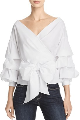 Do and Be Poplin Wrap Top $68 thestylecure.com