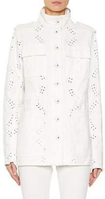 Off-White M65 Eyelet Embroidered Denim Jacket
