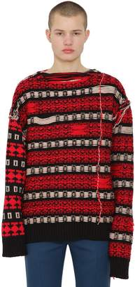 Calvin Klein Reversible Jacquard Wool Sweater