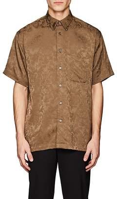 Second / Layer Men's Floral Cotton-Blend Jacquard Shirt