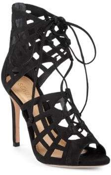 Schutz Blake Suede Stiletto Sandals