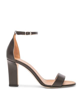 Victoria Beckham Leather Anna Ankle Strap Sandals in Khaki | FWRD