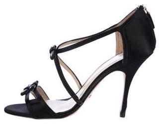 Alexandra Neel Satin Bow Accented Sandals