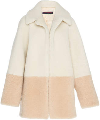 Martin Grant Two-Tone Shearling Coat