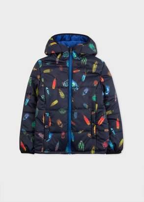 Boys' 2-6 Years 'Big Beetles' Print Packable Coat