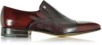 Moreschi Metz Burgundy Leather Slip on Loafer