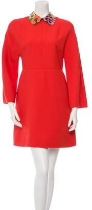 Valentino Wool A-Line Dress