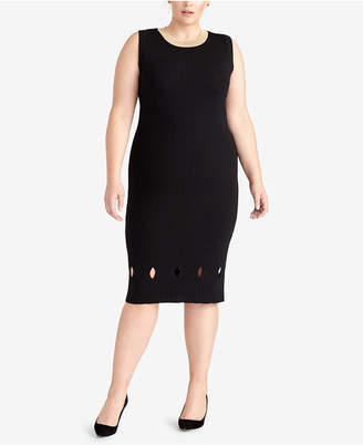 Rachel Roy Plus Size Cutout Sweater Dress