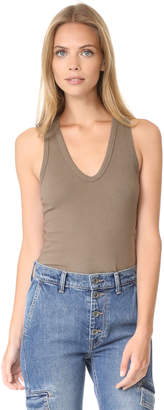 James Perse Skinny Brushed Jersey Racer Back Tank $95 thestylecure.com