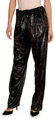 Balmain Relaxed-Fit Velvet Boyfriend Pants