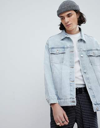 Cheap Monday Upsize Distressed Denim Jacket
