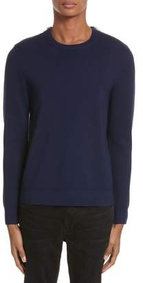 The Kooples Merino Wool Blend Sweater with Shoulder Zip Trim