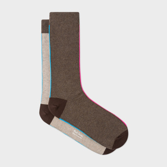 Men's Brown And Taupe Vertical Stripe Socks $30 thestylecure.com
